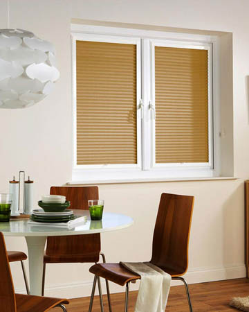 Window Wizz Honeycomb Fawn Pleated Blinds