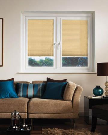 Window Wizz Pearl Beige Pleated Blinds