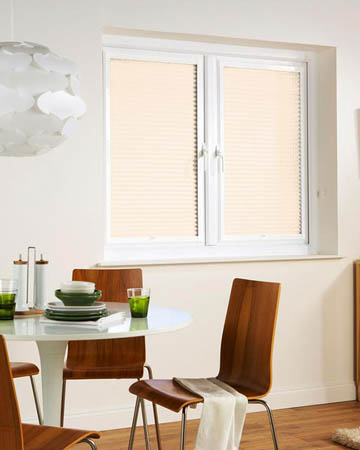 Window Wizz Pearl Ice White Pleated Blinds