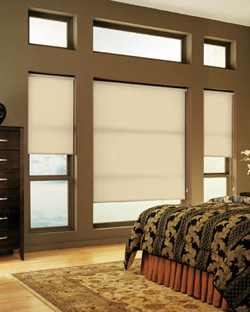 Plain Beige Roller Blinds