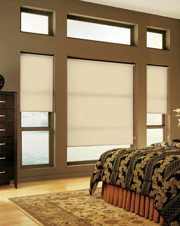 Cordless Plain Beige Roller Blinds