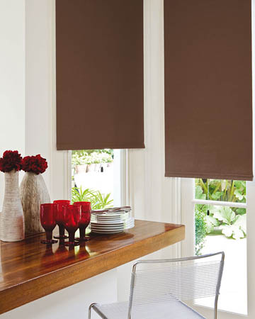 Plain Cappuccino Roller Blinds