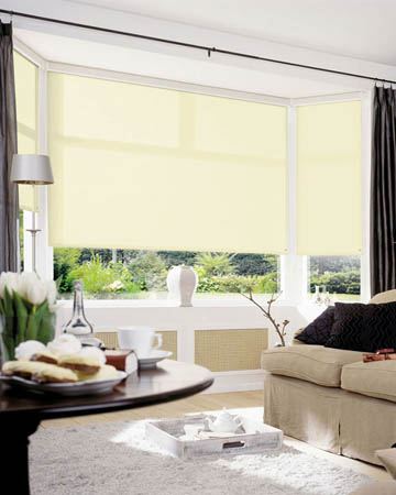 Cordless Plain Cream Roller Blinds