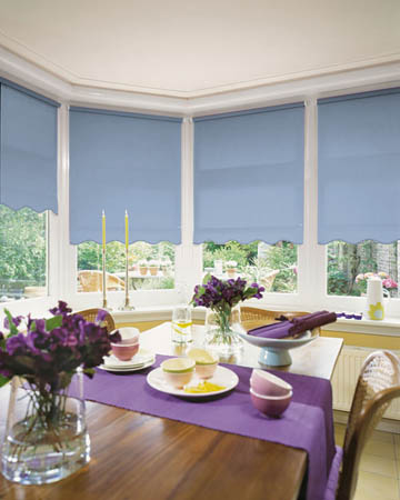 Plain Light Blue Roller Blinds