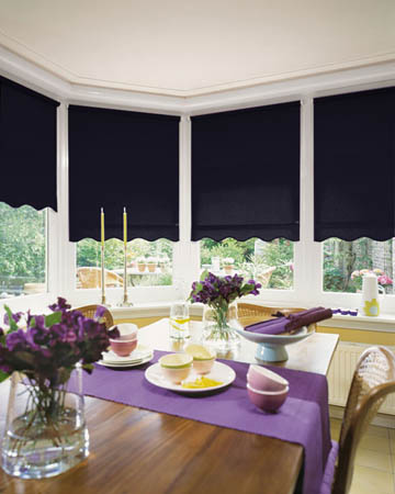 Plain Navy Blue Roller Blinds