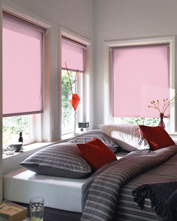 Plain Pink Roller Blinds