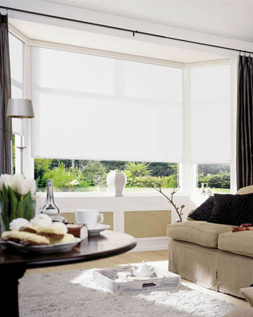 Cordless Plain White Roller Blinds
