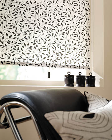 Chatsworth Black Roller Blinds