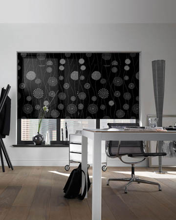 Decora Elegance Black Roller Blinds
