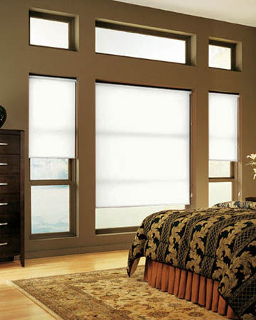 Eclipse Atlantex White Roller Blinds