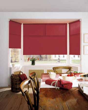 Eclipse Palette Redcurrant Roller Blinds