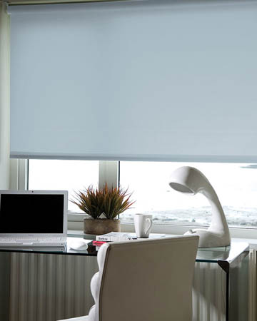 Eclipse Palette Smokey Blue Roller Blinds