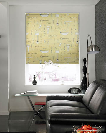 Ensuite Cream Roller Blinds