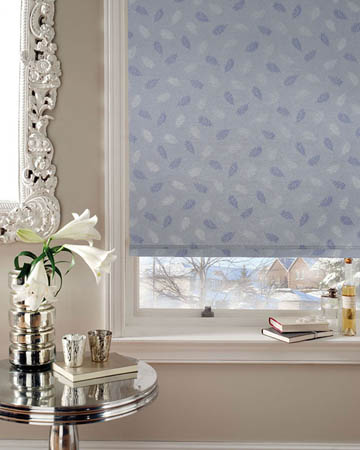 Feathers Cornflower Roller Blinds