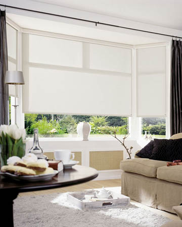 Florence Metallic Cream Roller Blinds