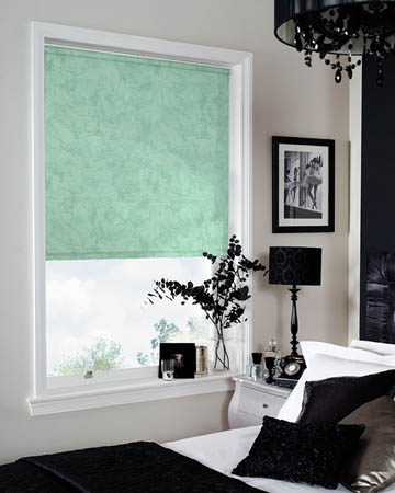 Impasto Spring Green Roller Blinds