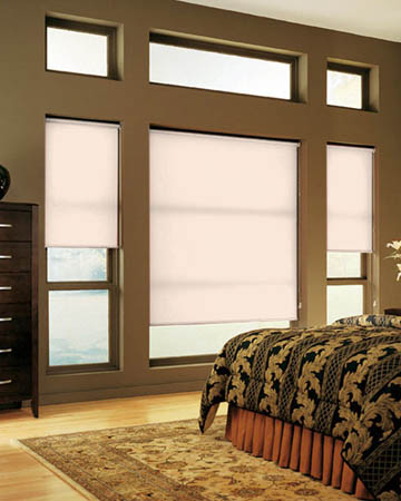 Louvolite Colourtex Almond Roller Blinds
