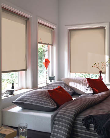 Louvolite Guardian Beige Roller Blinds