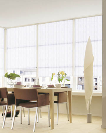 Louvolite Bali White Roller Blinds
