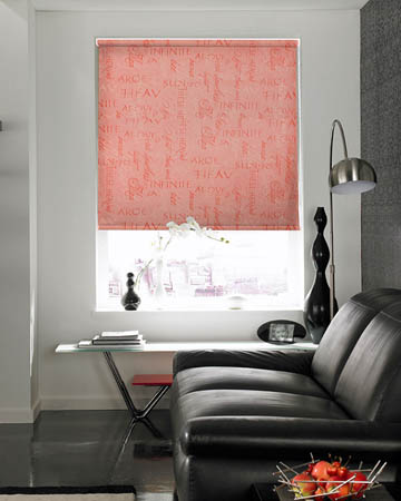 Manuscript Leather Roller Blinds