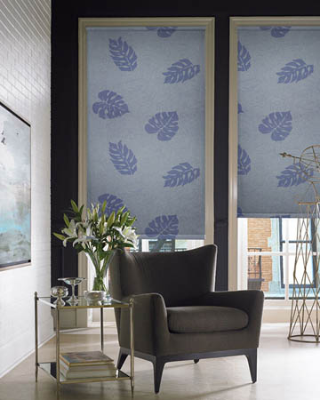 Monstera Bluebell Roller Blinds