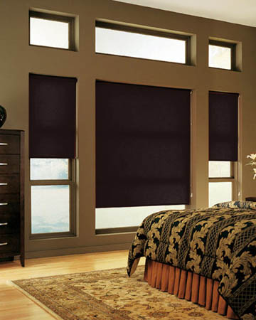 Plain Coffee Bean Roller Blinds