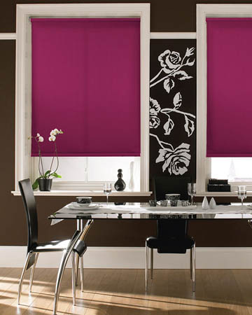 Plain Fuchsia Roller Blinds
