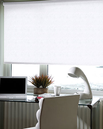 Wonderful White Fabric Blinds On Design Inspiration