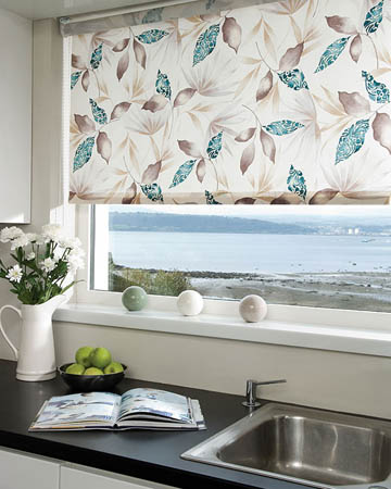 Railux Sumi Teal Roller Blinds