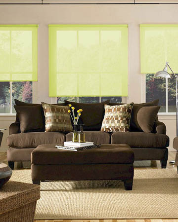 Cordless Lime Roller Blinds
