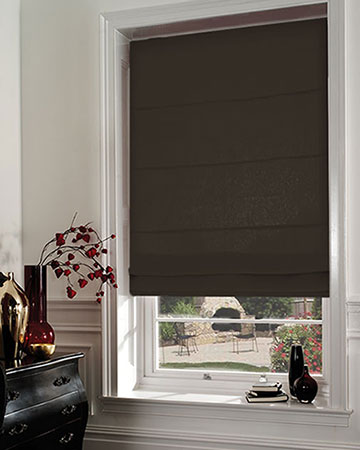 Atlas Orage Uni Gris Roman Blinds