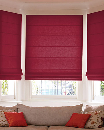 Clarke & Clarke Nantucket Crimson Roman Blinds