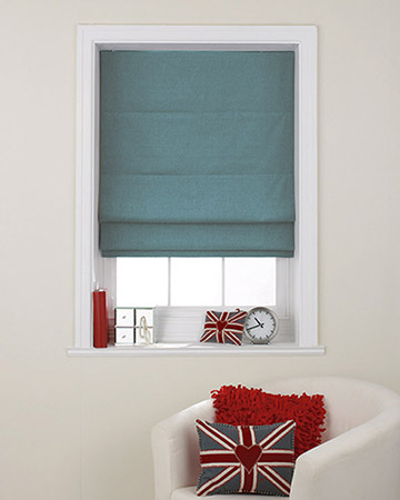 Clarke & Clarke Nantucket Lagoon Roman Blinds