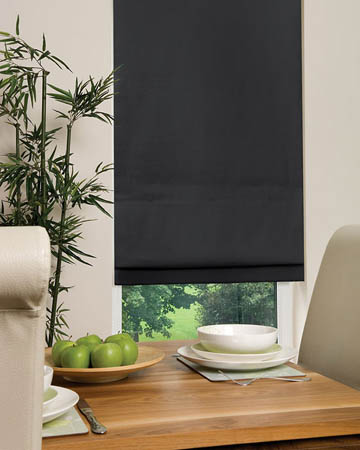 Dahlia Black Roman Blinds