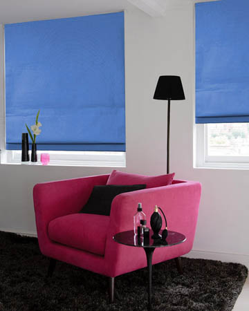 Dahlia Blue Roman Blinds