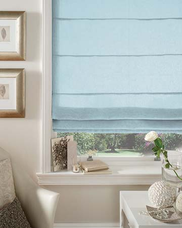 Dahlia Duckegg Roman Blinds