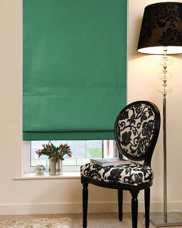 Dahlia Green Roman Blinds