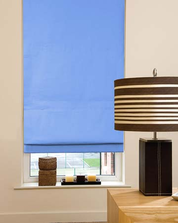 Dahlia Light Blue Roman Blinds