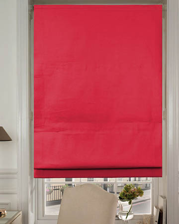 Dahlia  Red Roman Blinds