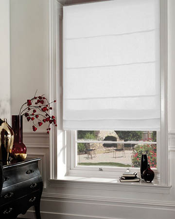 Dahlia Snow Roman Blinds