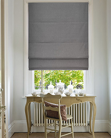 Edgar Grey Roman Blinds