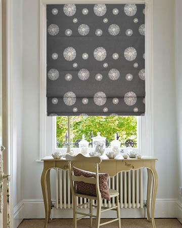 Galena Black Roman Blinds