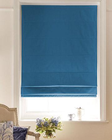 Luxe Dark Blue Roman Blinds