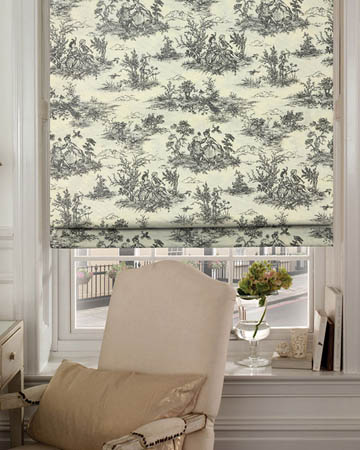Marie Graphite Roman Blinds