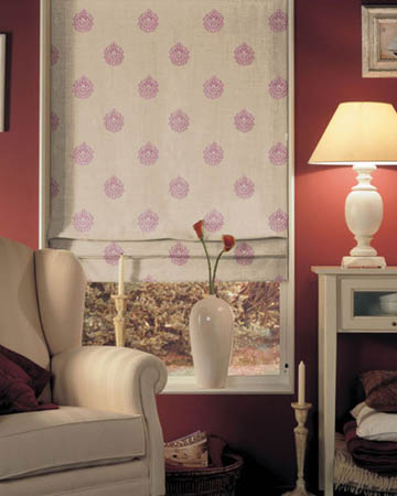 Orsay Ornement Brode Rose Roman Blinds