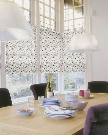Prestigious Berkeley Square Cherry Roman Blinds