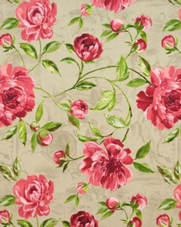 Prestigious Full Bloom Pomegranate Roman Blinds