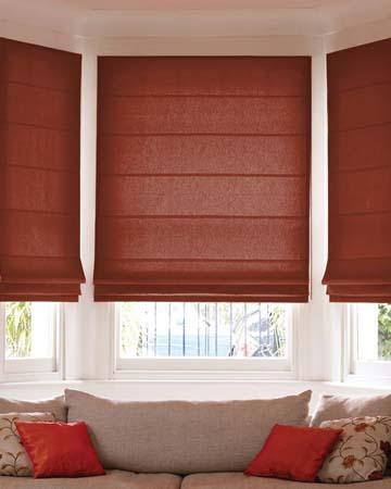 Prestigious Gem Redwood Roman Blinds