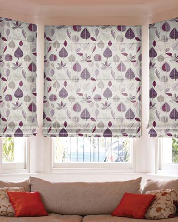 Prestigious Maple Damson Roman Blinds