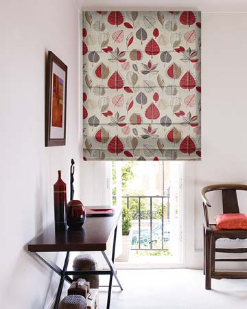Prestigious Maple Red Berry Roman Blinds